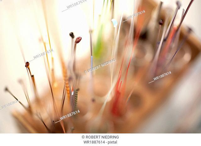 Beadmaking, Glass rod storage, Augsburg, Bavaria, Germany