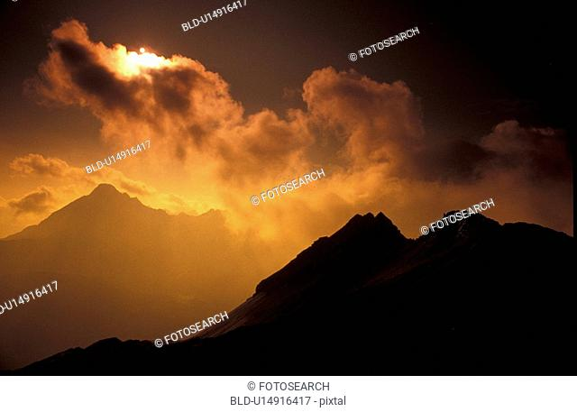aichner, cloudy, clouded, bad, abenddaemmerung