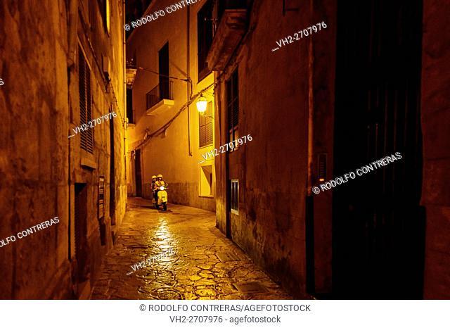 Streets of Palma at night, Majorca