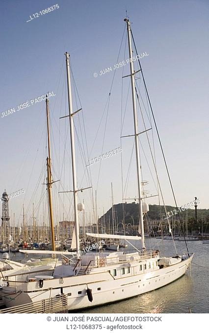 Old harbour, Port veil, Barcelona, Catalonia, Spain
