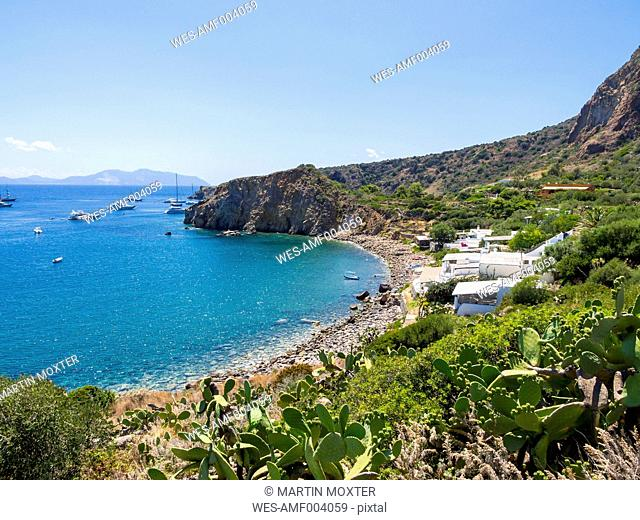 Sicily, Aeolian Islands, Panarea, View to bay