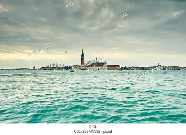 Distant view of Church of San Giorgio Maggiore, Venice, Italy