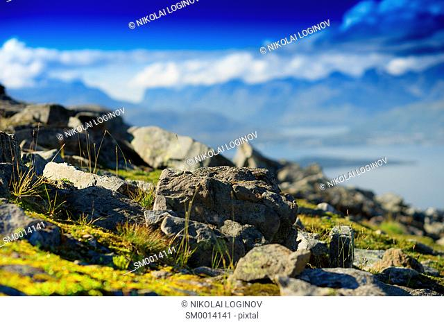 Mountain rocks landscape backgroundhd