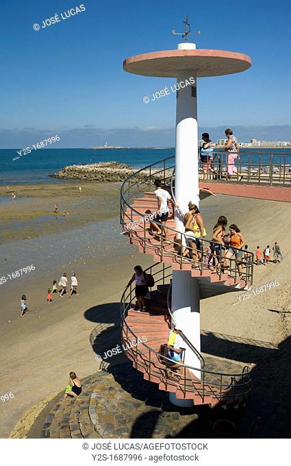 Victoria beach-stairs, Cadiz, Spain