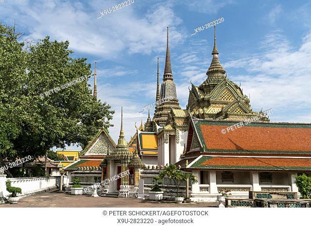 Buddhist temple complex Wat Pho, Bangkok, Thailand, Asia