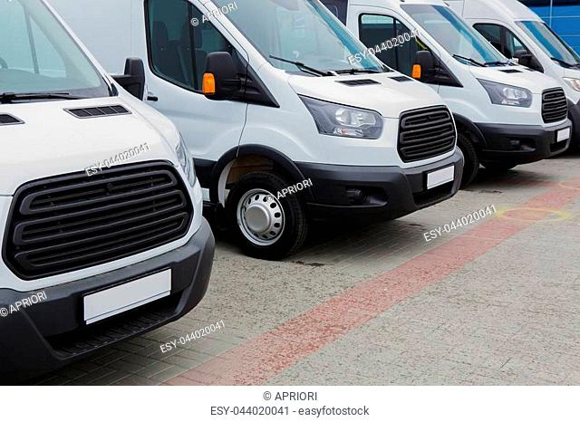 120d92d37b Fleet of delivery vans Stock Photos and Images
