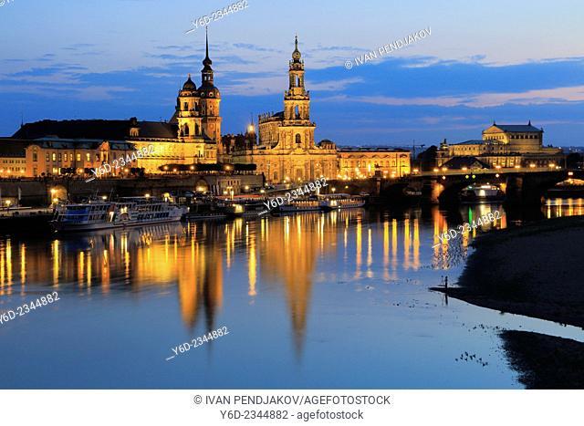Dresden at Dusk, Germany