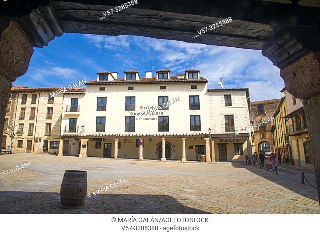 Doña Urraca Square. Covarrubias, Burgos province, Castilla Leon, Spain