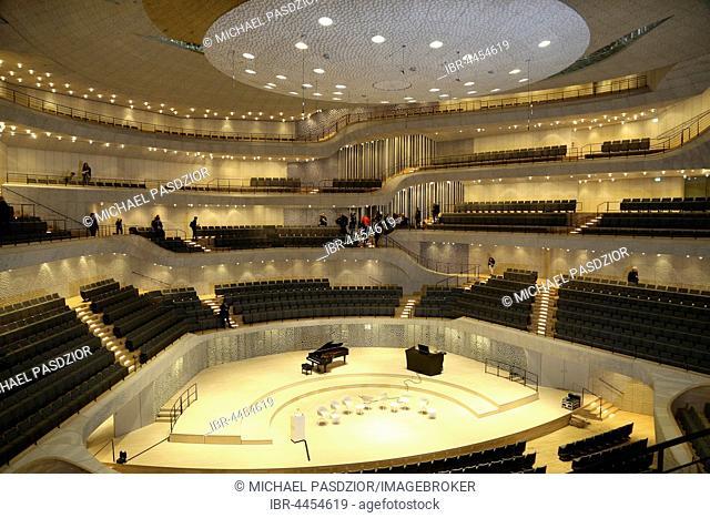 The Grand Hall, Elbe Philharmonic Concert Hall, Hamburg, Germany