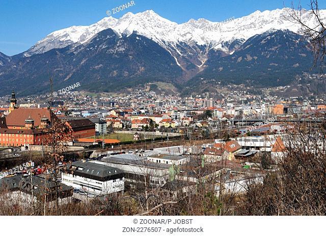 Panorama von Innsbruck in Tirol / Panoramic view of Innsbruck in Tyrol - Austria
