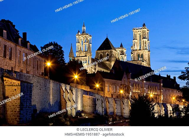 France, Aisne, Laon, cathedral Notre Dame built between 1150 and 1180