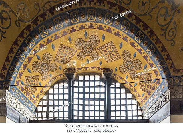 ISTANBUL,TURKEY- MARCH 11: The Hagia Sophia (The Church of the Holy Wisdom or Ayasofya in Turkish) spectacular Byzantine landmark and world wonder in Istanbul