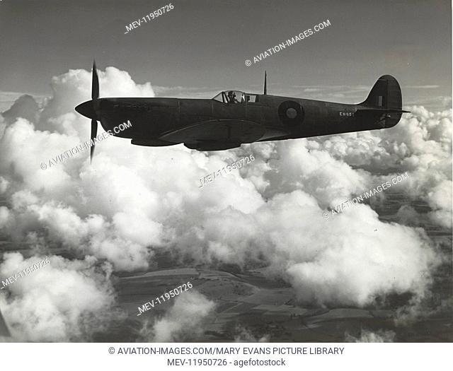 Royal Air Force RAF Photo-Reconnaissance Supermarine Spitfire Mark 11 Flying Enroute