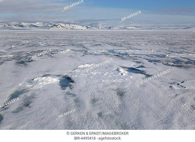 Pack ice boundary, Arctic Ocean, Spitsbergen, Norway