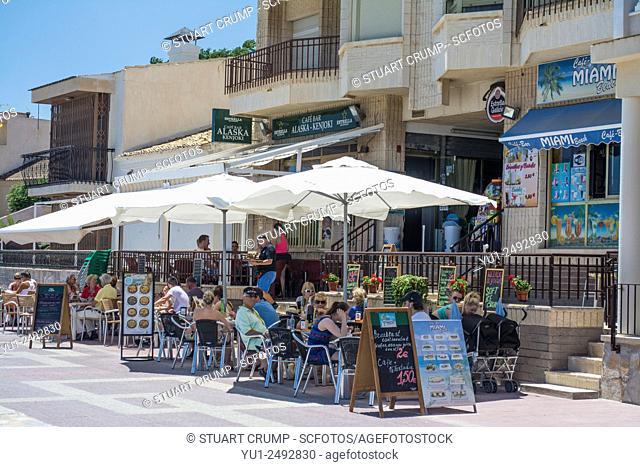 Spanish bars on the promenade at Los Alcazares