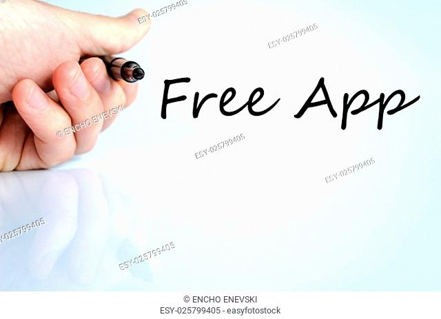 Free app text concept isolated over white background