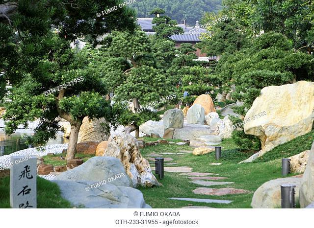 Chi Lin Nunnery chinese garden, Diamond Hill, Hong Kong