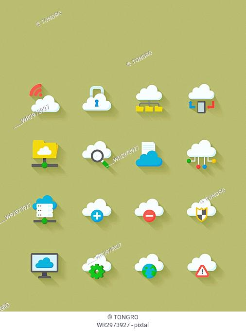 Icon set related to Cloud