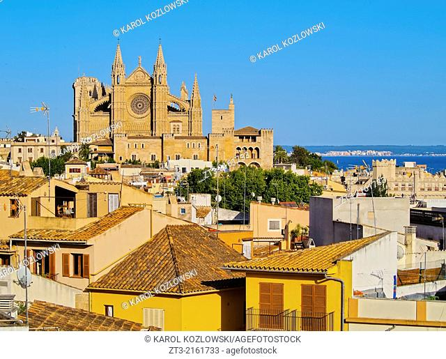 Skyline of Palma de Mallorca, Balearic Islands, Spain