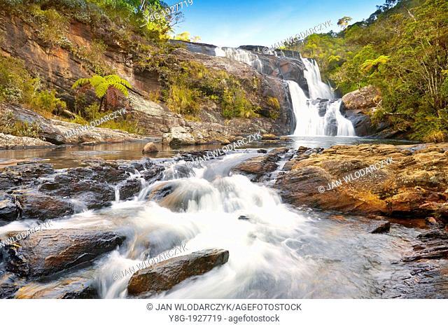 Sri Lanka - Horton Plain National Park protected area in Sri Lanka, landscape of Baker waterfall