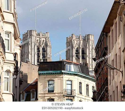 Cathedral of St Michael over homes