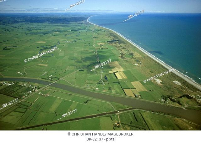 Farming area bay of plenty North island New Zealand