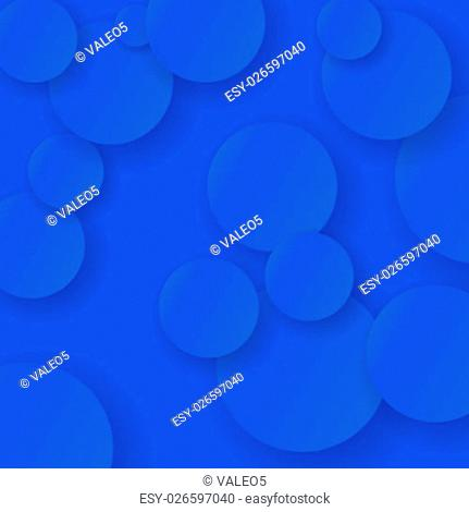 Blue Abstract Circle Background. Blue Circle Texture