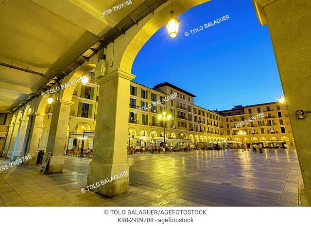 plaza mayor, Palma, Mallorca, balearic islands, Spain