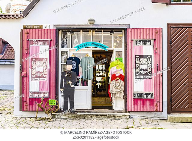 Souvenirs Store. Tallinn, Harju County, Estonia, Baltic states, Europe