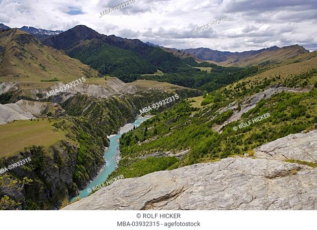 New Zealand, South-island, Central Otago, mountain scenery, Shotover River, destination, landscape, mountains, mountains, rocks, river, water, valley, canyon