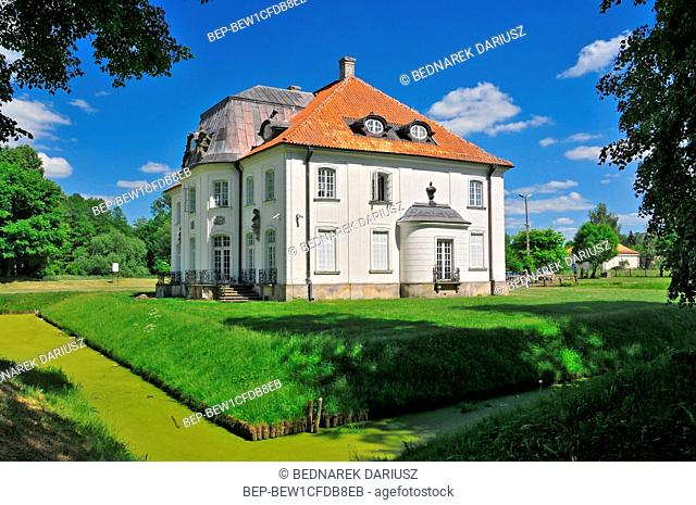 Branicki Palace in Choroszcz, Podlaskie voivodeship, Poland. The historic Branicki Palace was built in 1745-1764 for the magnate Jan Klemens Branicki on an...
