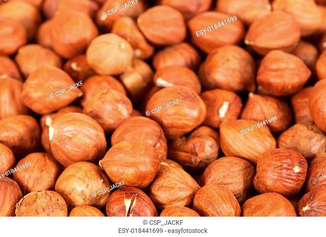 Background of hazelnuts