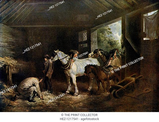 'The Inside of the Stable', 1791, (1912). A colour print from Famous Paintings, with an introduction by Gilbert Chesterton, Cassell and Company, (London