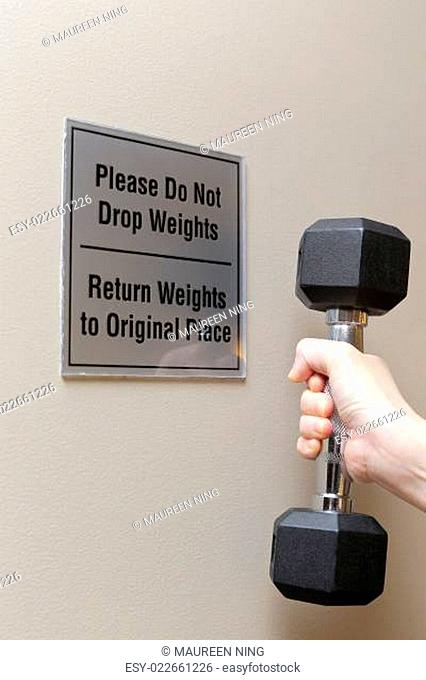 Please do not drop weight sign