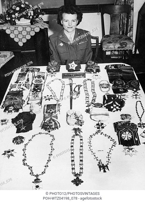 Military medals which belonged to German politician Joachim von Ribbentrop