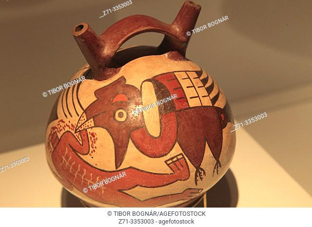 Spain, Madrid, Nazca culture exhibition, pottery,