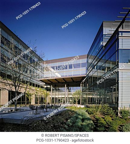 Courtyard At Modern Office Building