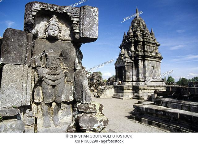 Sewu Temple, Prambanan Hindu Temple compound in Java island, Greater Sunda Islands, Republic of Indonesia, Southeast Asia and Oceania