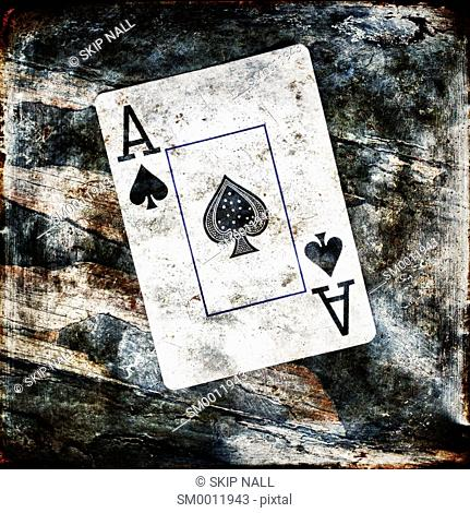 The ace of spades for a deck of playing cards