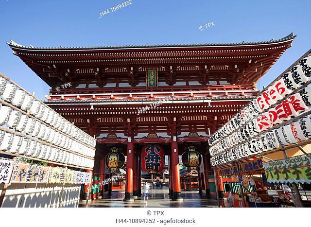 Asia, Japan, Honshu, Tokyo, Asakusa, Asakusa Kannon Temple, Senoji Temple, Temple, Temples, Hozomon Gate, Tourism, Travel, Holiday, Vacation