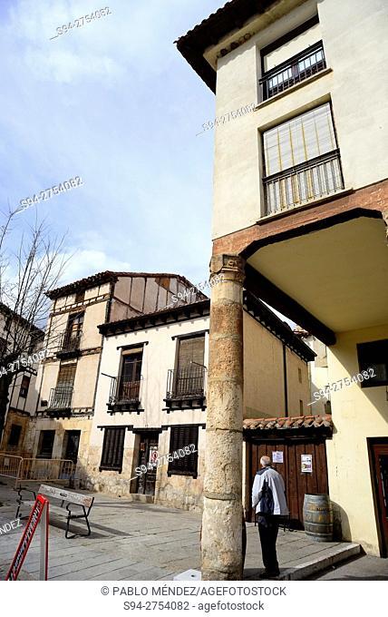 Framework houses in a square Covarrubias, Burgos, España