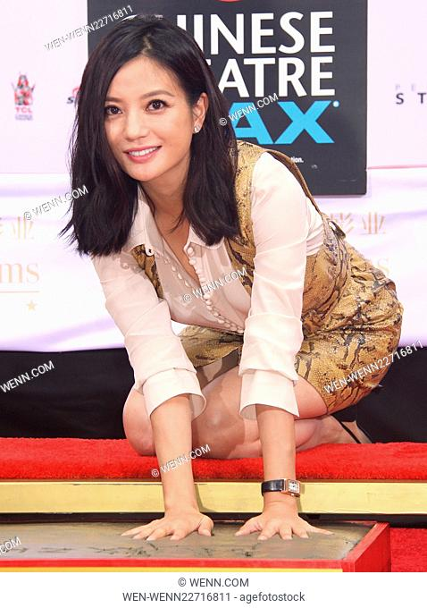 TCL Chinese Theatre IMAX hand/footprint ceremony honoring Justin Lin, Zhao Wei, Huang Xiaoming during the 88th Birthday Commemoration Of TCL Chinese Theatre...