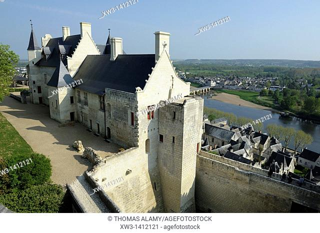 France, Indre-et-Loire, Chinon  Restored royal apartments