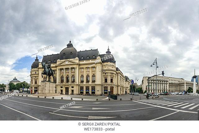 Central University Library Bucharest University in Romania. Panoramic view