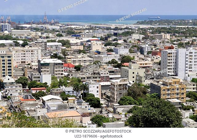 Mauritius, Port Louis, view of the city from Fort Adelaide