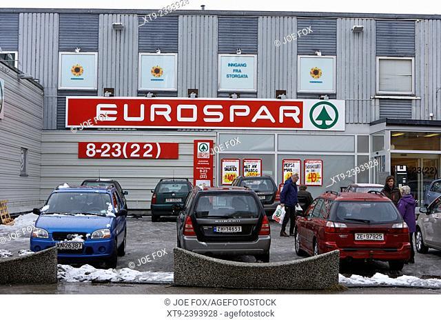 eurospar store Tromso troms Norway europe