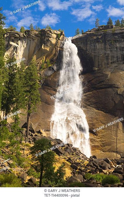 USA, California, Yosemite National Park, Nevada Falls