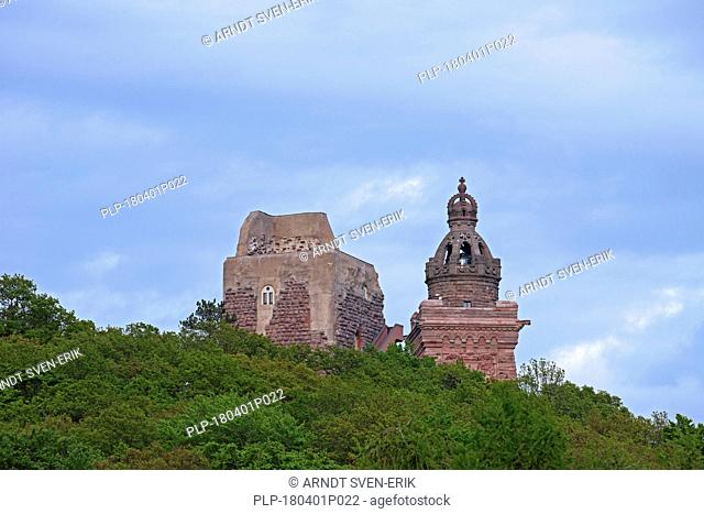 Kyffhäuser Monument / Barbarossa Monument / Barbarossadenkmal, Emperor William monument within the Kyffhäuser mountain, Thuringia / Thüringen, Germany