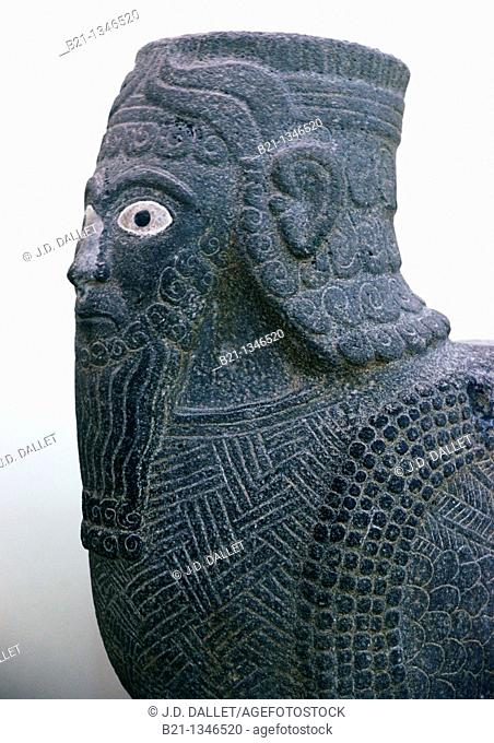 Lion head from Tell Halaf, Amorite, (1000 BC), Aleppo Museum, Syria