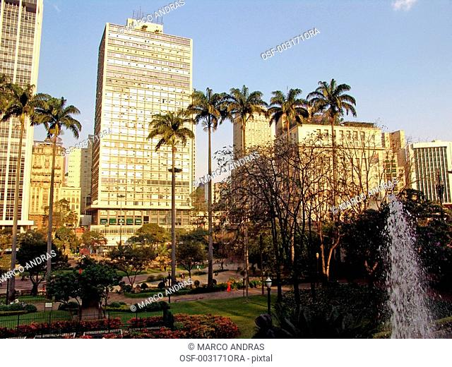 sao paulo sp general view of a square park with no persons